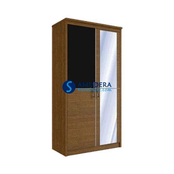 Jual Lemari Pakaian Murah, Orbitrend 2 Pintu Plus Kaca CM 2101
