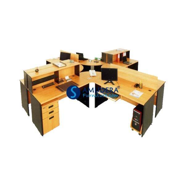 Meja Kantor Staff Dino Milano 5 - Meja Workstation