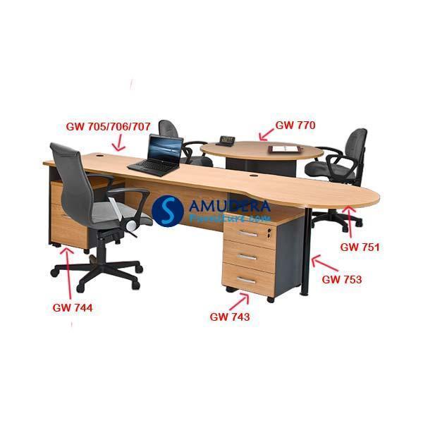 Meja Kantor Staff Global GW 705, Meja Staff Kantor Murah